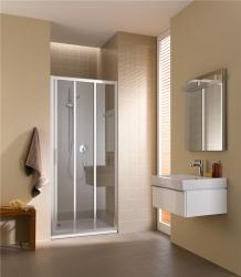 KERMI - Cada XS stříbrná lesk 3D posuvné dveře PP vpravo 700/2000 čiré sklo s CadaClean CCG3R07020VPK (CCG3R07020VPK)