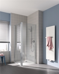 KERMI - Cada XS stříbrná lesk boční stěna  750/2000 čiré sklo s CadaClean CCTWD07520VPK (CCTWD07520VPK)
