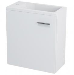 SAPHO - LATUS III umývadlová skrinka 45x50x23,2cm, biela + umývadlo liaty mramor 55510 (55541-SET)