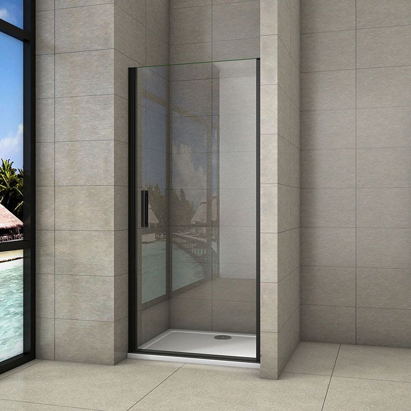 H K - Sprchové dvere jednokrídlové BLACK SAFIR D1 100, 98,7-101,7x 200 cm SE-BLACKSAFIRD1100SET