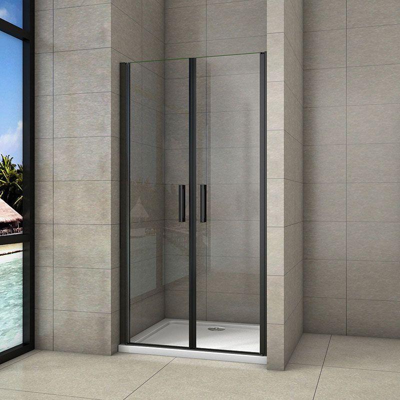 H K - Sprchové dvere dvojkrídlové BLACK SAFIR D2 100, 96-100 x 200 cm SE-BLACKSAFIRD2100