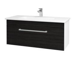 Dřevojas - Kúpeľňová skriňa ASTON SZZ 100 - N01 Bílá lesk / Úchytka T03 / D14 Basalt (146801C)