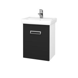 Dřevojas - Kúpeľňová skriňa DOOR SZD 50 - N01 Bílá lesk / L03 Antracit vysoký lesk / Levé (122805)