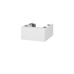 Dřevojas - Doplnková skrinka pod dosku DSD SZZ 40, s výrezom (výška 20 cm) - N01 Bílá lesk / IND Individual (222963)