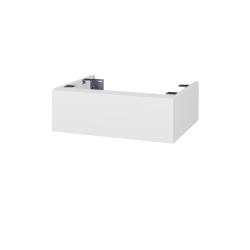 Dřevojas - Doplnková skrinka pod dosku DSD SZZ 60, bez výrezu (výška 20 cm) - N01 Bílá lesk / D03 Cafe (224806)