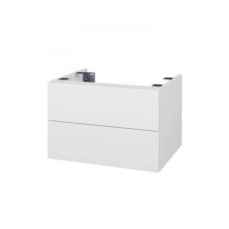 Dřevojas - Doplnková skrinka pod dosku DSD SZZ2 60, s výrezom (výška 40 cm) - N01 Bílá lesk / D03 Cafe (226756)
