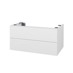 Dřevojas - Doplnková skrinka pod dosku DSD SZZ2 80, s výrezom (výška 40 cm) - N01 Bílá lesk / D16 Beton tmavý (227623)