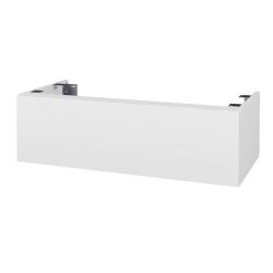 Dřevojas - Doplnková skrinka pod dosku DSD SZZ1 100, s výrezom (výška 30 cm) - N01 Bílá lesk / D03 Cafe (230654)