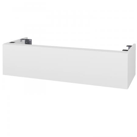 Dreja - Doplnková skrinka pod dosku DSD SZZ1 120, s výrezom (výška 30 cm) - N01 Bílá lesk / D03 Cafe (232993)
