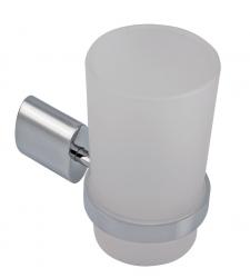 NOVASERVIS - Držiak zubných kefiek a pasty sklo Metalia 10 chróm (0006,0)
