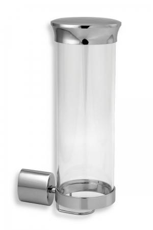 NOVASERVIS - Zásobník na kozmetické tampóny sklo Metalia 10 chróm (0072,0)