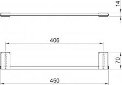 NOVASERVIS - Držiak uterákov 510 mm Metalia 9 chróm (0927,0), fotografie 4/2