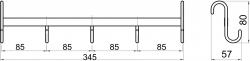 NOVASERVIS - Päťháčik na vykurovací rebr Metalia Drôtený program chróm (6002,0), fotografie 4/2