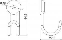 NOVASERVIS - Drôtený vešiak Metalia Drôtený program chróm (6009,0), fotografie 4/2