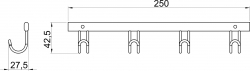 NOVASERVIS - Štvorháčik Metalia Drôtený program chróm (6043,0), fotografie 4/2