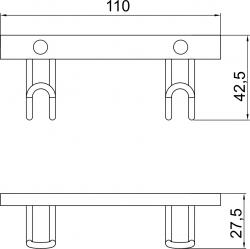 NOVASERVIS - Dvojháčik Metalia Drôtený program chróm (6056,0), fotografie 4/2