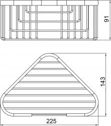 NOVASERVIS - Rohová polička malá hlboká Metalia Drôtený program chróm (6064,0), fotografie 4/2