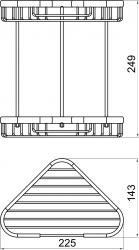 NOVASERVIS - Dvojitá rohová polica malá Drôtený program chróm (6071,0), fotografie 4/2