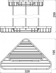 NOVASERVIS - Dvojitá rohová polica kombinovaná Drôtený program chróm (6072,0), fotografie 4/2