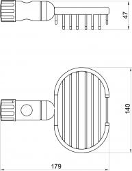 NOVASERVIS - Mydlenička na posuvnú tyč Drôtený program chróm (6080,0), fotografie 4/2