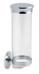 NOVASERVIS - Zásobník na kozmetické tampóny sklo Metalia 1 chróm (6172,0)