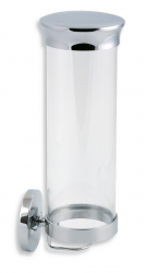 NOVASERVIS - Zásobník na kozmetické tampóny sklo Metalia 1 chróm (6172,0), fotografie 2/1