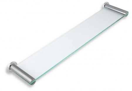NOVASERVIS - Polička rovná sklo pieskované Metalia 2 chróm (6240,0S)