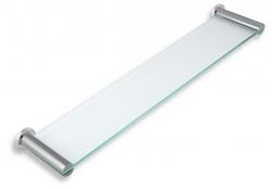 NOVASERVIS - Polička rovná sklo pieskované Metalia 2 chróm (6240,0S), fotografie 2/1