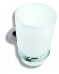 NOVASERVIS - Držiak zubných kefiek a pasty sklo Metalia 3 chróm (6306,0)