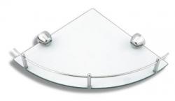 NOVASERVIS - Rohová polička so zábradlím Metalia 3 chróm (6358,0)