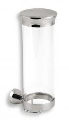 NOVASERVIS - Zásobník na kozmetické tampóny sklo Metalia 3 chróm (6372,0)