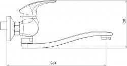 NOVASERVIS - Drezová batéria bez ramena 100 mm Metalia 57 chróm (57074/1,0), fotografie 4/2