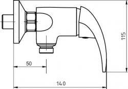 NOVASERVIS - Sprchová batéria 150 mm Metalia 55 chróm (55061,0), fotografie 6/3