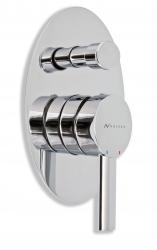 NOVASERVIS - Vaňová sprchová batéria s prepínačom OVAL chróm (32050R,0)