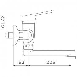 NOVASERVIS - Drezová umývadlová batéria 150 mm SMILE chróm (71070,0), fotografie 4/3