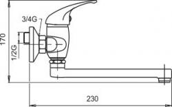 NOVASERVIS - Umývadlová drezová batéria 150 mm Metalia 55 chróm (55076,0), fotografie 4/2