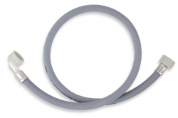 NOVASERVIS - Práčková napúšťacia hadica s kolenom 200 cm šedá-200cm (PNK/200), fotografie 2/1