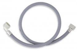 NOVASERVIS - Práčková napúšťacia hadica s kolenom 250 cm šedá-250cm (PNK/250), fotografie 2/1