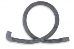 NOVASERVIS - Práčková vypúšťacia hadica s kolenom 150 cm šedá-150cm (PVK/150), fotografie 2/1