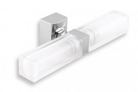 NOVASERVIS - Dvojité kúpeľňové svetlo hranaté chróm (0205,0)