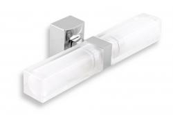 NOVASERVIS - Dvojité kúpeľňové svetlo hranaté chróm (0205,0), fotografie 2/2