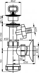 NOVASERVIS - Sifón umývadlový, plastová miska, práčkový vývod, 40 mm (422,PP), fotografie 4/2