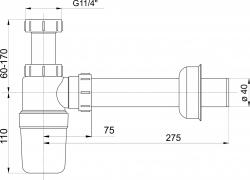 """NOVASERVIS - Sifón umývadlový5/4"""", plastová miska (431,P), fotografie 4/2"""