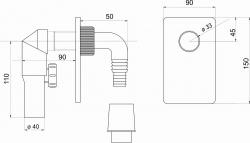 NOVASERVIS - Sifón práčkový podomietkový pochrómovaný (460,0), fotografie 4/2
