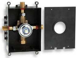 NOVASERVIS - Montážny podomietkový box chróm (BOX050)