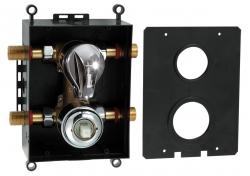 NOVASERVIS - Montážny podomietkový box s prepínačom chróm (BOX050R)