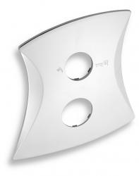 NOVASERVIS - Kryt podomietkového boxu s prepínačom LINIE chróm (KRYT0050RD,0)