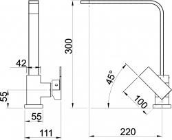 NOVASERVIS - Drezová batéria Nobless EDGE chróm (36713,0), fotografie 4/2