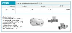 "NOVASERVIS - Sada na radiátory s termostatom priama 1/2"" (ZTM1), fotografie 4/2"