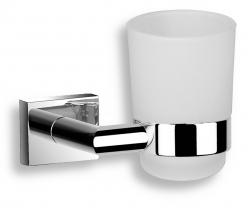 NOVASERVIS - Držiak zubných kefiek a pasty sklo Titania Elis chróm (66406,0)